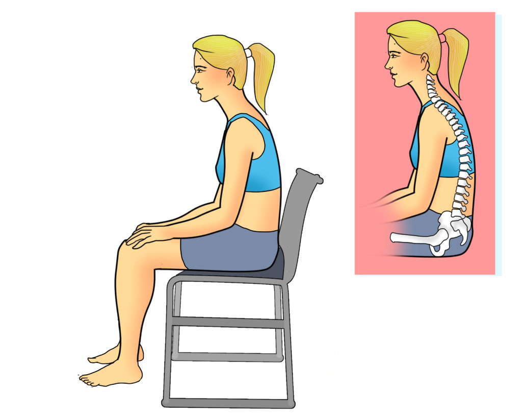 mauvaise posture et mal de dos assis